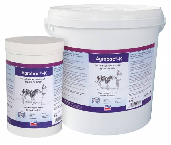 Agrobac K Powder 1 kg / 5 kg – Verdauungsregulierung