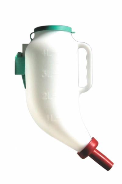 Trockenfutterflasche mit Halterung und Sauger