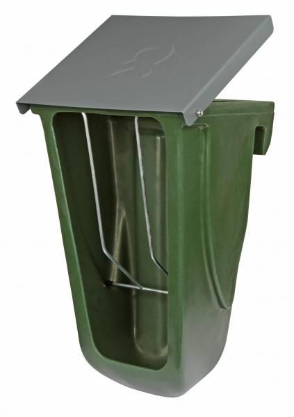 Futterbox für Kälberhütten mit Raufeneinsatz