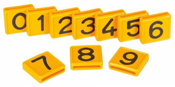 Nummernblock gelb für Halsmarkierungsband