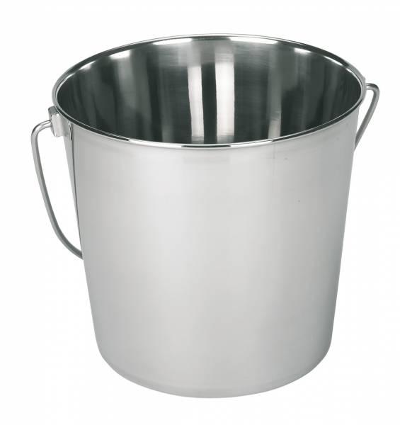 Edelstahleimer 5,7 und 8,5 Liter mit Tragegriff