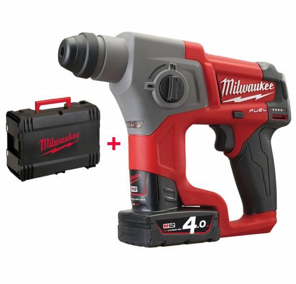 Milwaukee Bohrhammer M12 CH mit 12-Volt-Akku und HD-Box