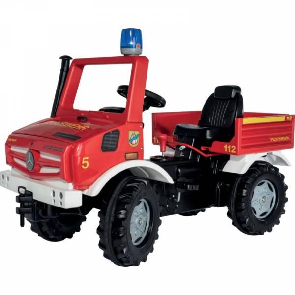 Rolly Toys Farmtrac Premium Feuerwehr Unimog mit Schaltung und Bremse für viel Fahrspaß bei den Kids