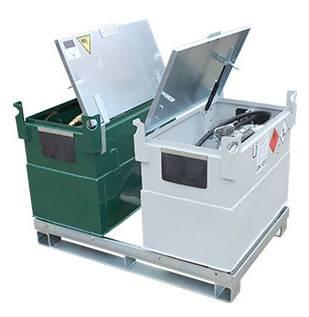 Beispiel für Transportgestell mit 2 KUBICUS-Behälter