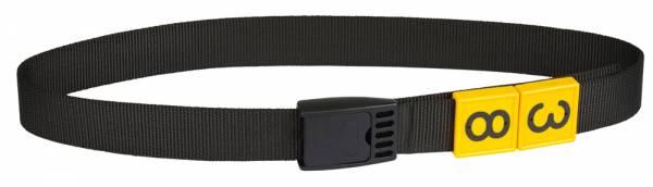 Halsmarkierungsband mit Klemmverschluss in schwarz – Nummernblöcke als Zubehör