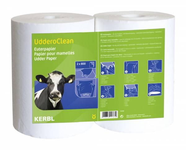 Euterpapier UdderoCLEAN für Nass- und Trockenreinigung 2 x 800 Blatt