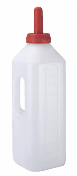 Kälber-Milchflasche mit Handgriff – eckig 3 Liter