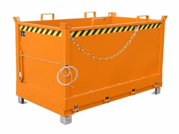 Bauer Anbaugeräte für Gabelstapler – Klappbodenbehälter Typ FB 1500 – lackiert RAL 2000