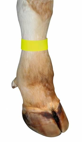 Fessel-Markierungsband mit Klettverschluss in Farbe gelb