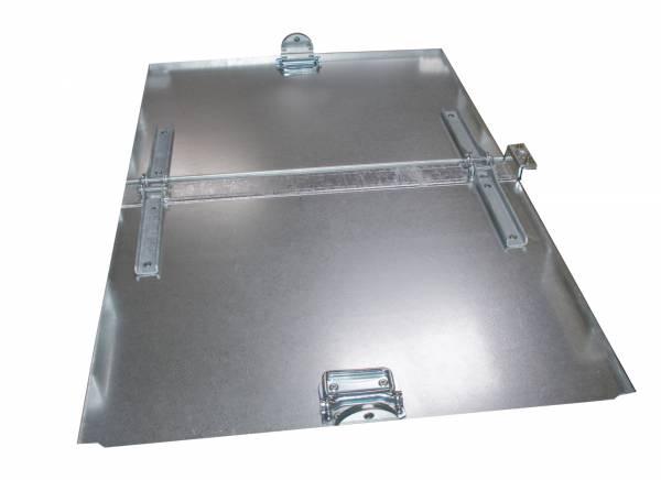 BAUER Deckel verzinkt für Klappbodenbehälter TYP FB 500 und 750 – 2teilig