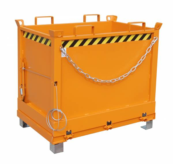 Bauer Anbaugeräte für Gabelstapler – Klappbodenbehälter Typ FB 750 – lackiert RAL 2000