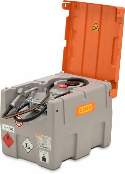 Beispiel CEMO DT-Mobil Easy 200 Liter mit Handpumpe - Klappdeckel geöffnet