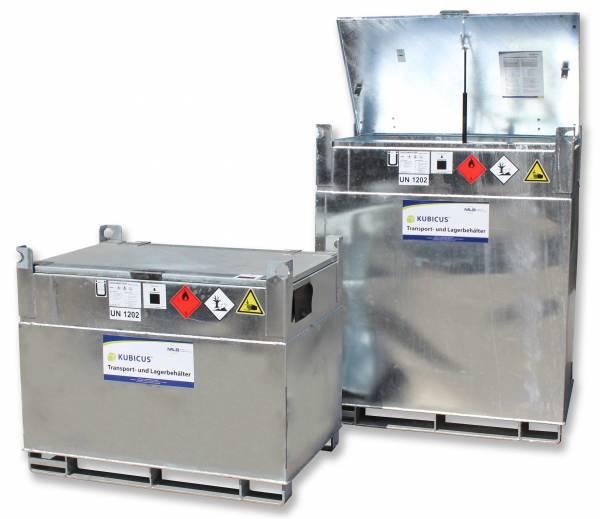 Beispiel Größenverhältnis KUBICUS 350 und 1000 Liter