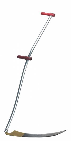 Klappsense mit Wettschliff und gebogenem Stahlrohr-Stiel