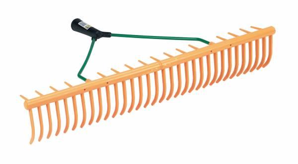 Kunststoff-Rasenrechen 64 cm breit mit 32 Zinken plus 16 Querzinken