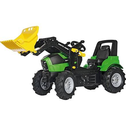 Rolly Toys Farmtrac PREMIUM Tretfahrzeug DEUTZ FAHR AGROTRON 7250 TTV mit Luftreifen und Frontlader