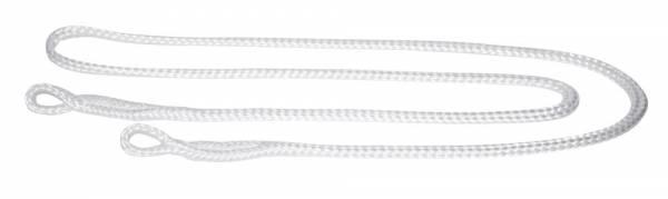 Geburtsstrick weiß mit zwei Ösen aus Nylon – Länge 190 cm