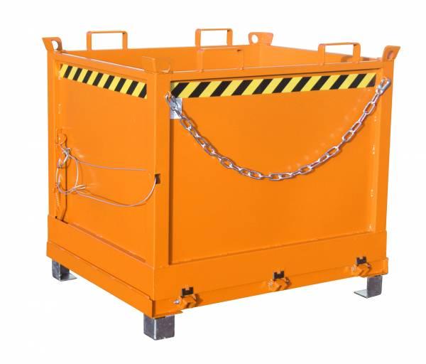 Bauer Anbaugeräte für Gabelstapler – Klappbodenbehälter Typ FB 1000 – lackiert RAL 2000