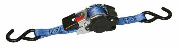 Automatik-Zurrgurt mit Abrollfunktion blau mit S-Haken