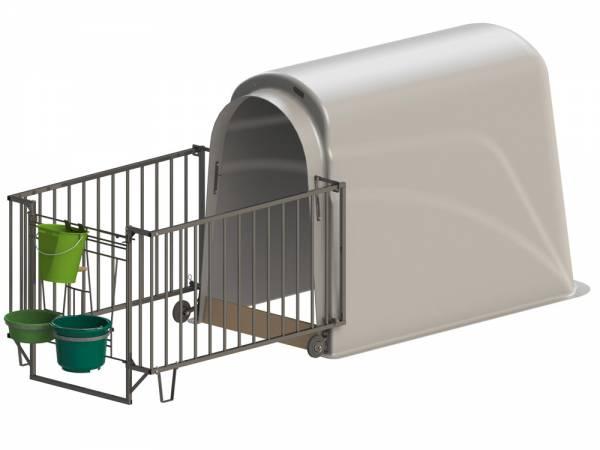 Kälberhütte CalfHouse Premium Plus mit schwerer Umzäunung, Lieferung ohne Eimer