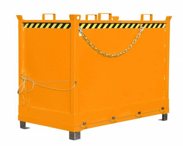 Bauer Anbaugeräte für Gabelstapler – Klappbodenbehälter Typ FB 2000 – lackiert RAL 2000