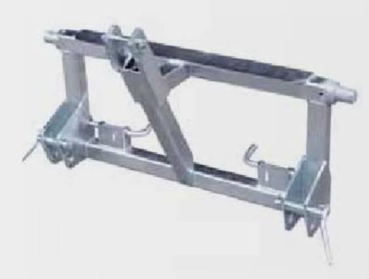 Ritter-Maschinen Dreipunkt-Adapter verzinkt für Anbau an Frontlader