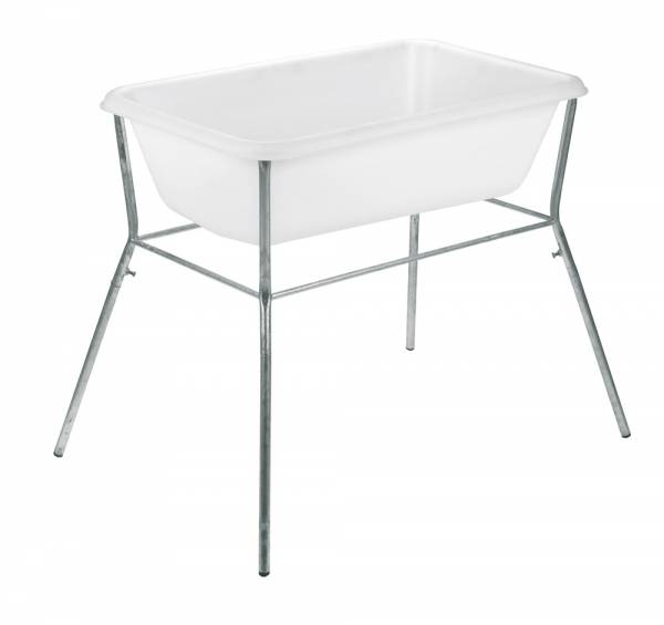 Tischgestell aus verzinktem Stahlrohr für Süplwanne mit 65 Liter