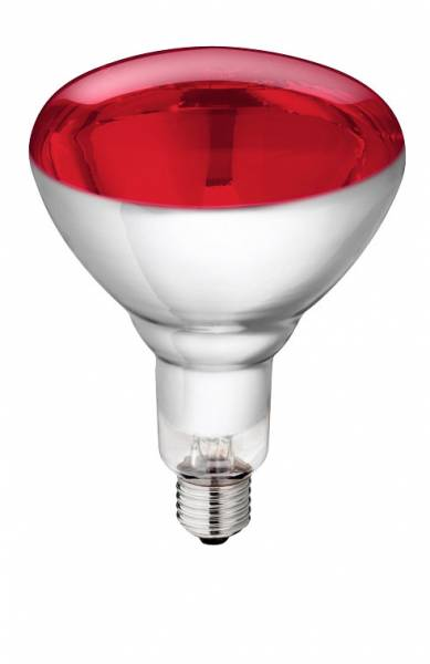 Hartglas-Infrarotlampe Philips rot