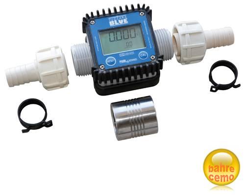 Digitaler Durchflusszähler K24 – 2 Schlauchanschluß-Stücke und Muffe