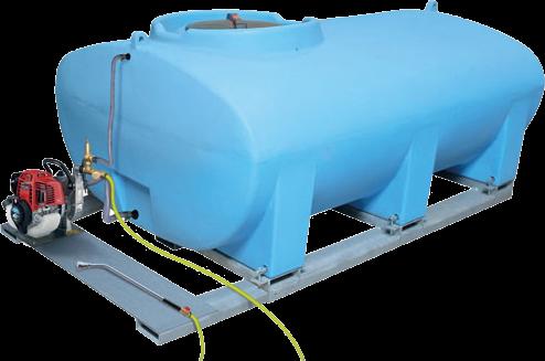 DURAplas Bewässerungsanlage mit 2000 Liter Fass und Pumpe