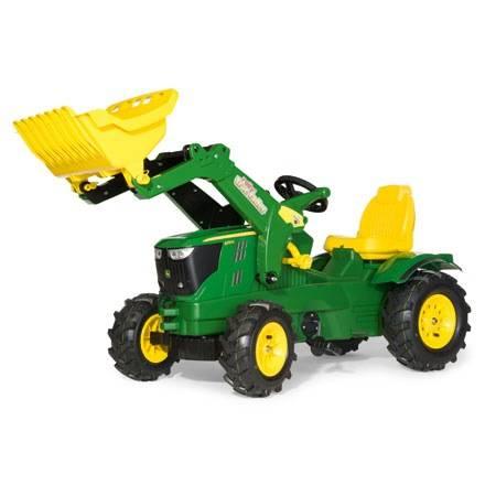 Rolly Toys Farmtrac JOHN DEERE 6210R – mit Frontlader und Luftreifen