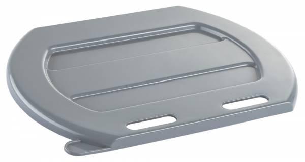 Deckel für Tränke-Eimer aus grauem Kunststoff