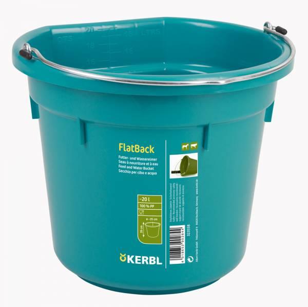 Futter- und Wassereimer FlatBack aquamarin