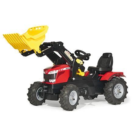 Rolly Toys Farmtrac Trettraktor MASSEY FERGUSON 8650 mit Trac Lader und Luftreifen