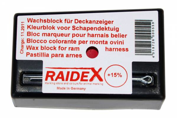 Kreide RAIDEX für Tiermarkierung Farbe rot