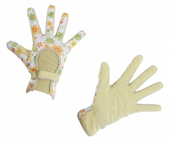 Gartenhandschuh Sunny in ansprechendem Design mit Klettverschluss