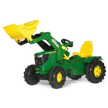 Rolly Toys Farmtrac JOHN DEERE 6210R – mit Frontlader und Flüsterreifen