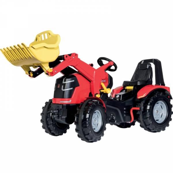 Trettraktor Rolly Toys X-Trac Premium mit Frontlader, 2-Gang-Schaltung und Bremse ausgestattet