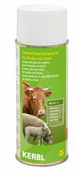 Grünes Klauenpflegespray mit natürlichen Essenzen