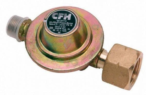 Druckminderer für Gasflaschenanschluss als Zubehör für Geräte mit Gasbetrieb