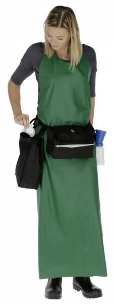 Anwendungsbeispiel Gürteltasche UdderoClean Bag mit Sammelbeutel