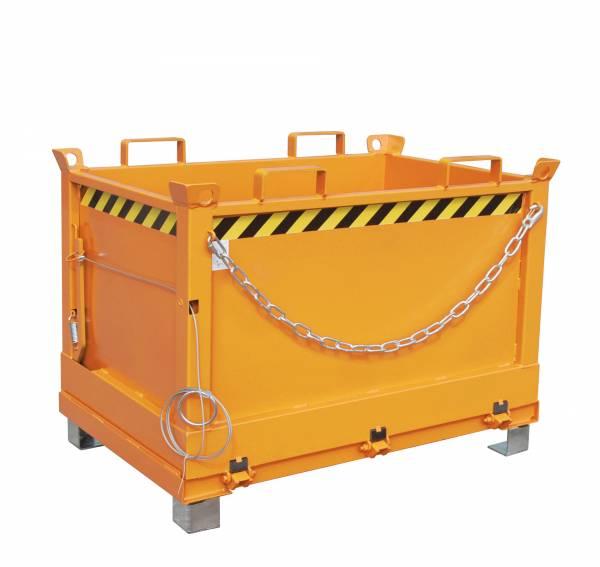 Bauer Anbaugeräte für Gabelstapler – Klappbodenbehälter Typ FB 500 – lackiert RAL 2000