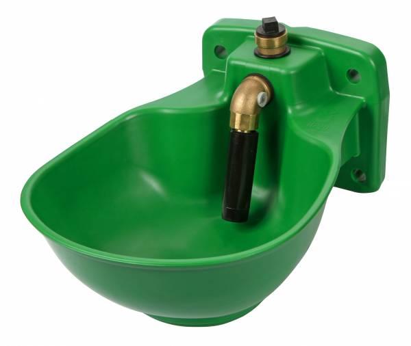 Heizbares Kunststoff-Tränkebecken mit Rohrventil HP20