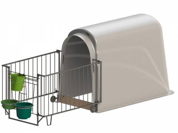 Kälberhütte CalfHouse Premium Plus mit leichter Umzäunung, Lieferung ohne Eimer