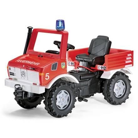 Rolly Toys Farmtrac Classic Feuerwehr Unimog mit Sschaltung und Bremse für viel Fahrspaß bei den Kids