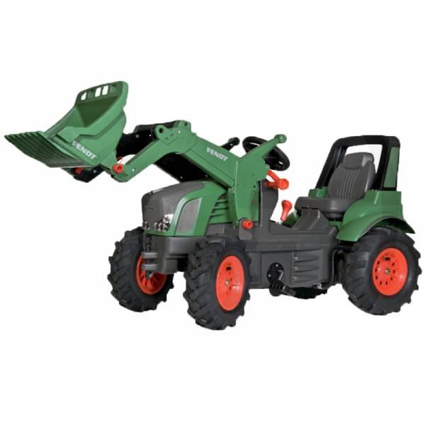 Rolly Toys Farmtrac PREMIUM Tretfahrzeug mit Luftreifen – FENDT 939 VARIO mit Frontlader, Schaltung und Bremse