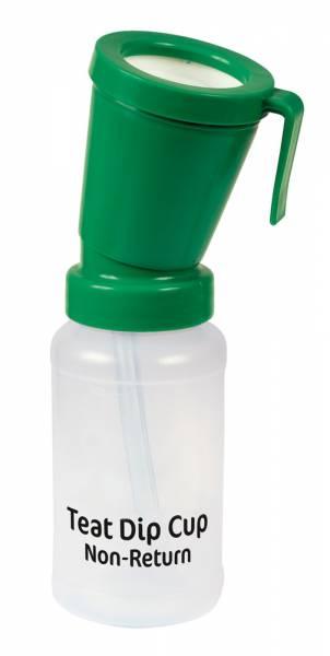 Dippbecher Non-Return grün mit Rücklaufstopp für Zitzenpflege