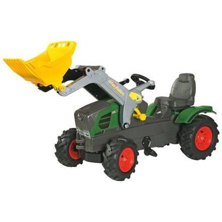 Trettraktor von Rolly Toys Farmtrac FENDT 211 Vario mit Frontlader und Luftreifen für mehr Fahrkomfort