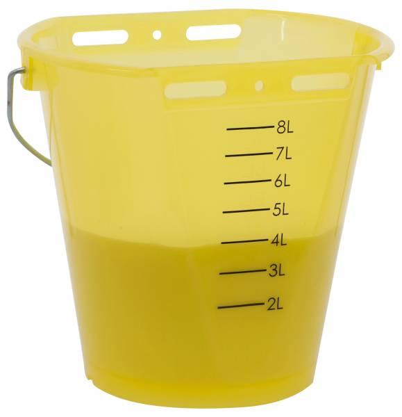 Tränkeeimer transparent gelb 8 Liter